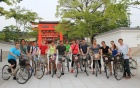 students on a bike tour of japan on a study abroad trip in architecture